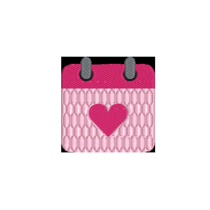 - calendar heart - Kalender mit Herz