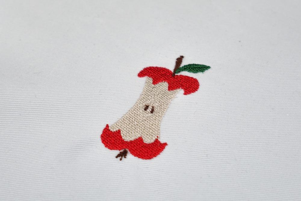 apfel angebissen - 2017 01 makema stickdatei embroidery apple snacked 16 - Apfel angebissen