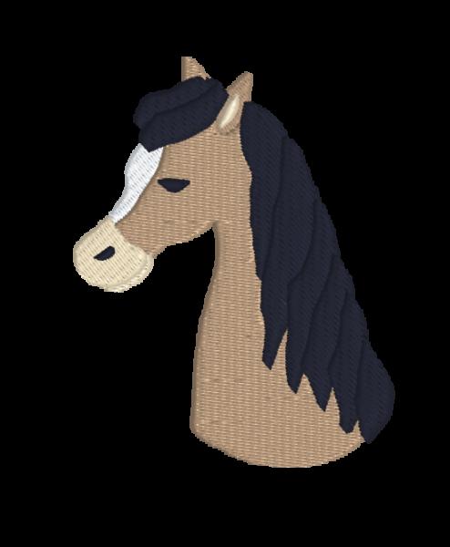auge - horse embroidery 494x600 - Pferd