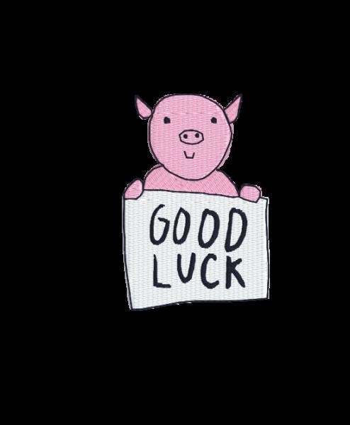 """auge - pig good luck 494x600 - Schwein """"Good Luck"""""""