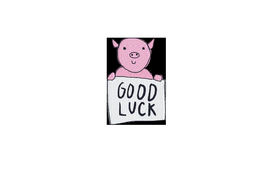 """auge - pig good luck - Schwein """"Good Luck"""""""