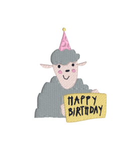 "- sheep happy birthday 247x300 - sheep ""happy birthday"""