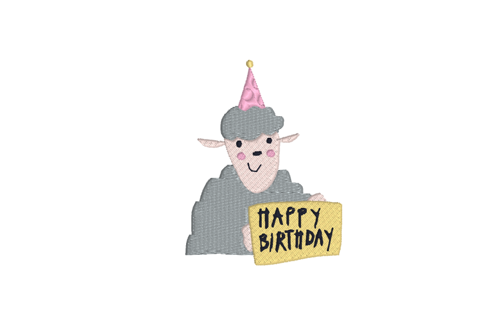 "auge - sheep happy birthday - Schaf ""Happy Birthday"""