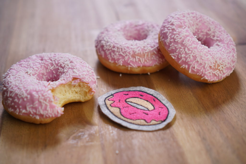 donut machine embroidery design
