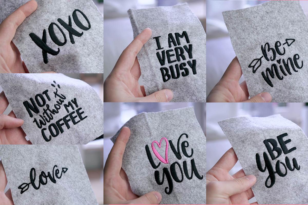 """stickdateienset handlettering - 2017 05 makema embroidery design stickdatei herunterladen calligraphy compilation set - Stickdateien """"Handlettering"""" im Set"""