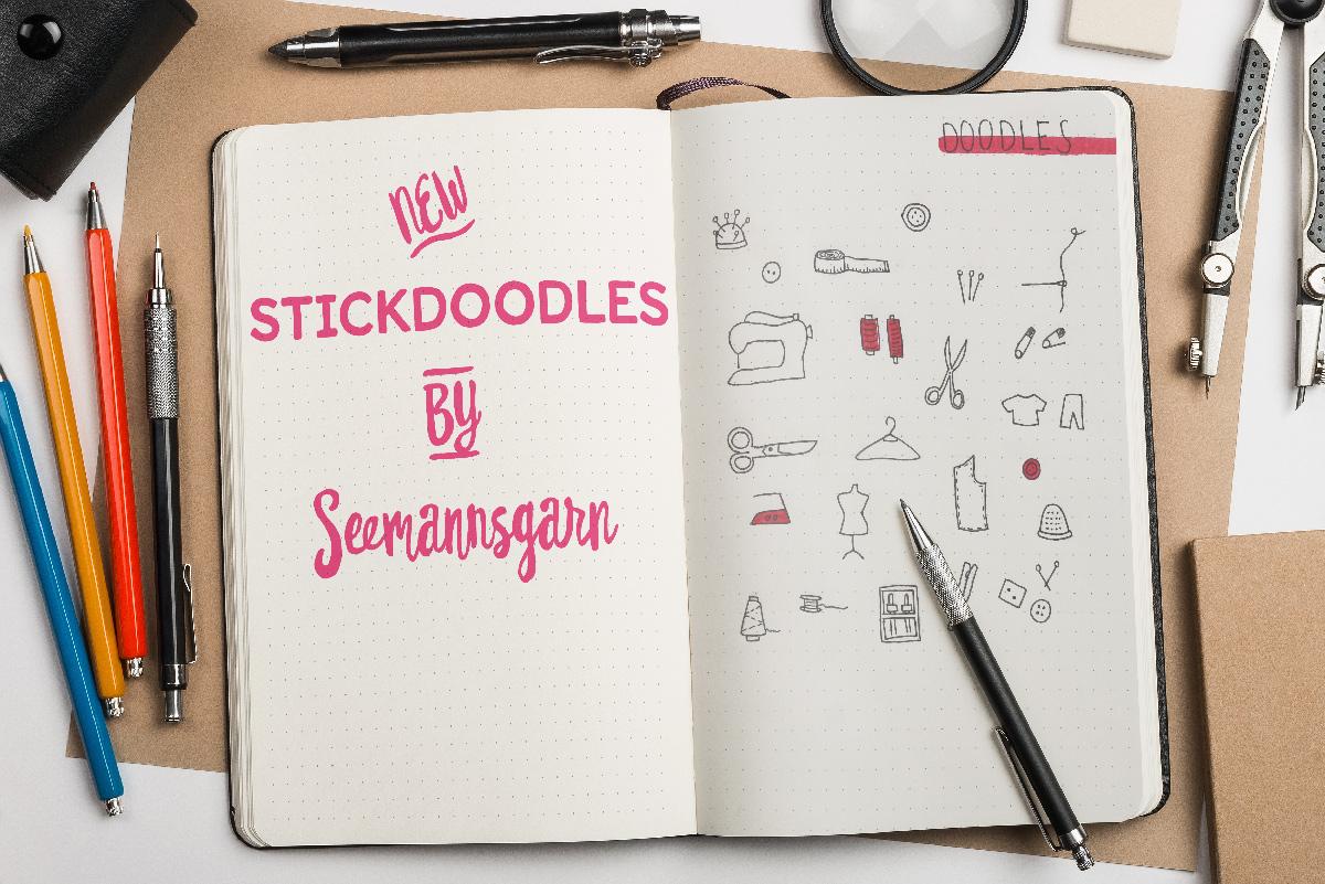 stick doodles Stick Doodles von Seemannsgarn mockup stickdoodles by seemannsgarn