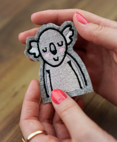 machine embroidery koala bear design