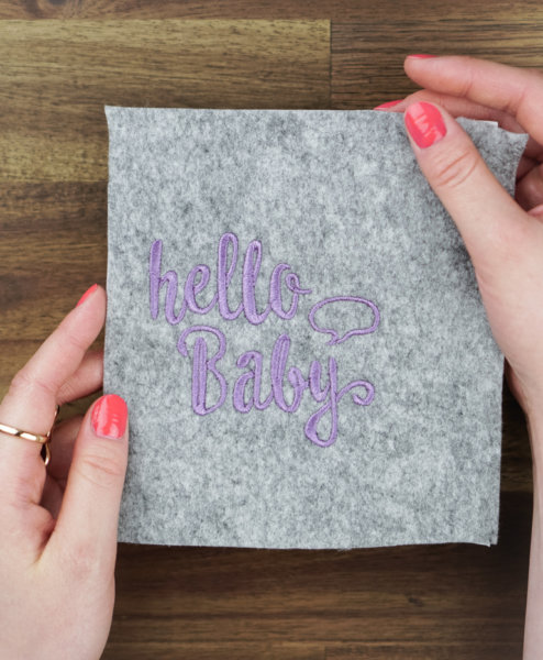 Stickdatei Mutterpass »hello baby«