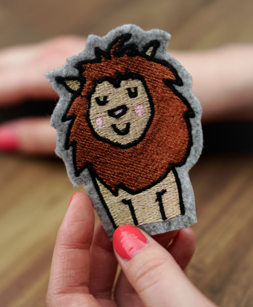 Machine embroidery design Lion