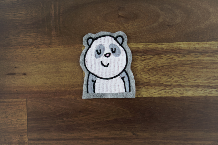 panda bear machine embroidery design