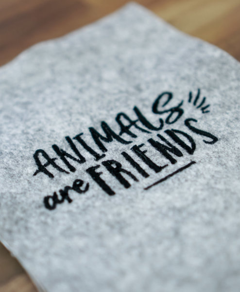 Stickdatei »Animals are Friends« für Tierfreunde