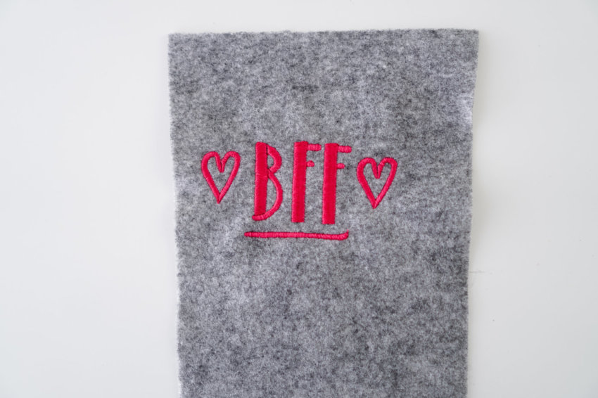 machine embroidery design best friends forever