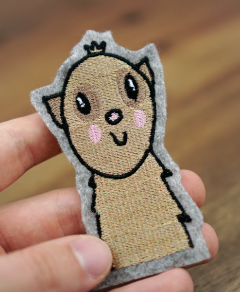 machine embroidery design meerkat