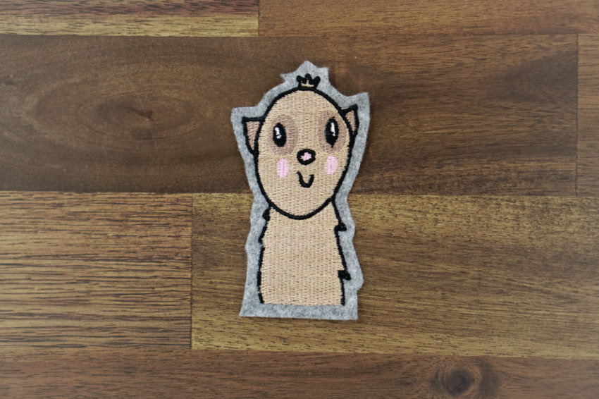meerkat machine embroidery design