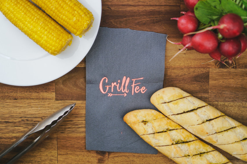 machine embroidery design for barbecuing »GRILL FEE«