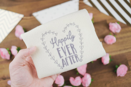 Embroidery design wedding »Happily EVER AFTER« wedding machine embroidery designs 👰🏼💍 5x Wedding Machine Embroidery designs (Set) stickdatei hochzeit happily ever after 01 500x333