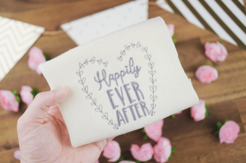 Embroidery design wedding »Happily EVER AFTER«