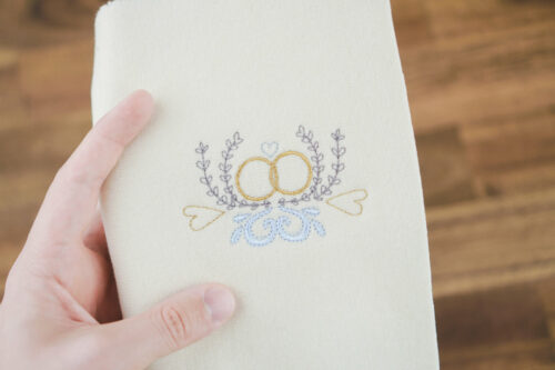 Machine embroidery design wedding rings