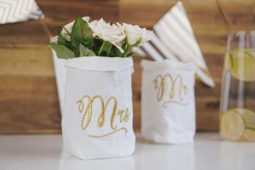 Embroidery design Mrs Mr