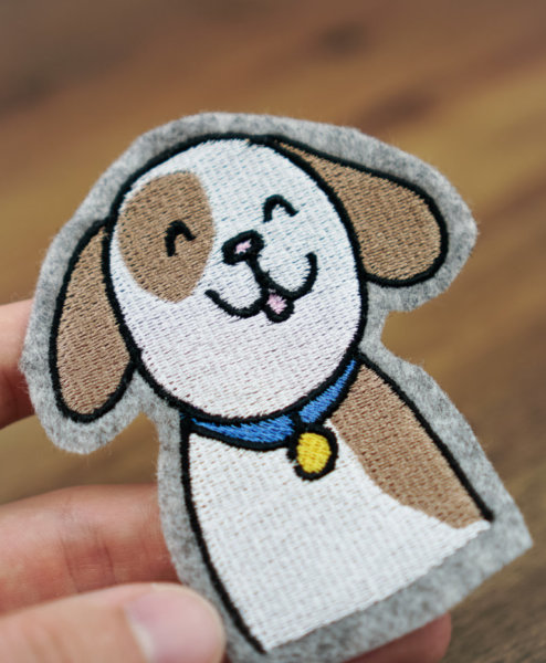 machine embroidery design dog