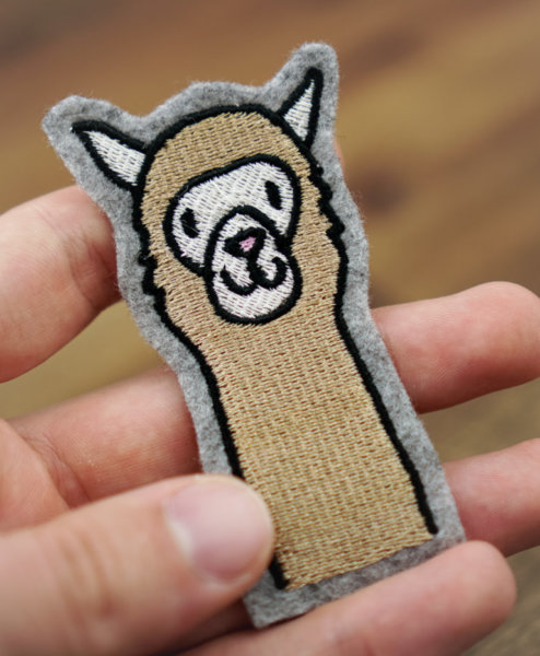 machine embroidery design alpaca