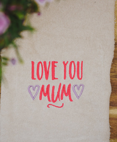 Stickdatei Muttertag »Love you Mum«