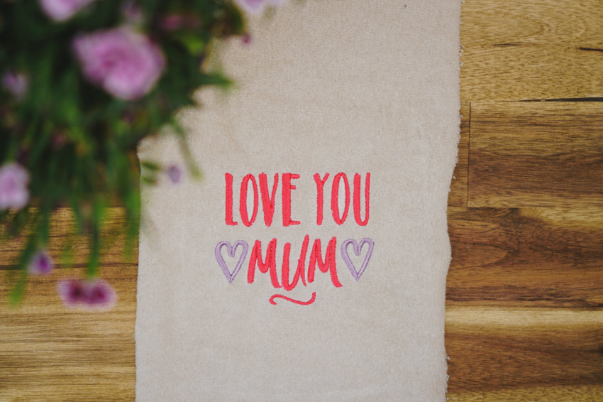 machine embroidery design mothers day