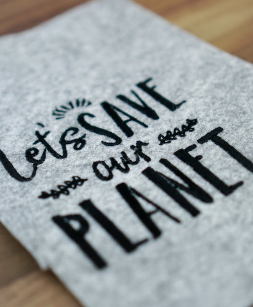 machine embroidery design environment  🌎 »Let's save our Planet« stickdatei safe our planet 3 494x600