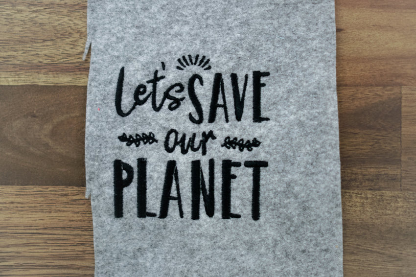 download machine embroidery design »Let's save our planet«