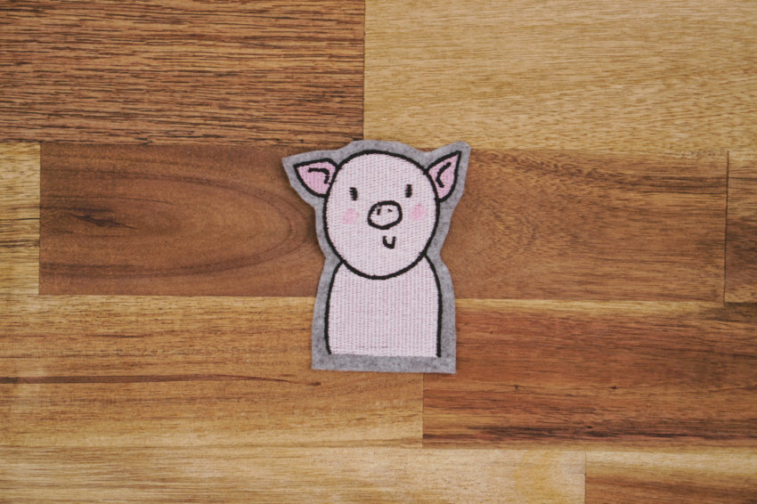 pig machine embroidery design