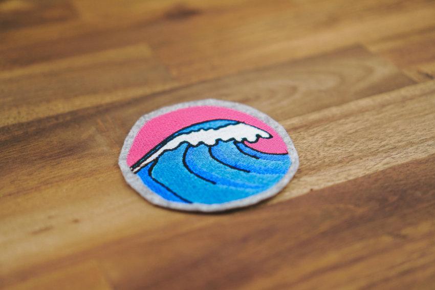 Machine embroidery design summer sea