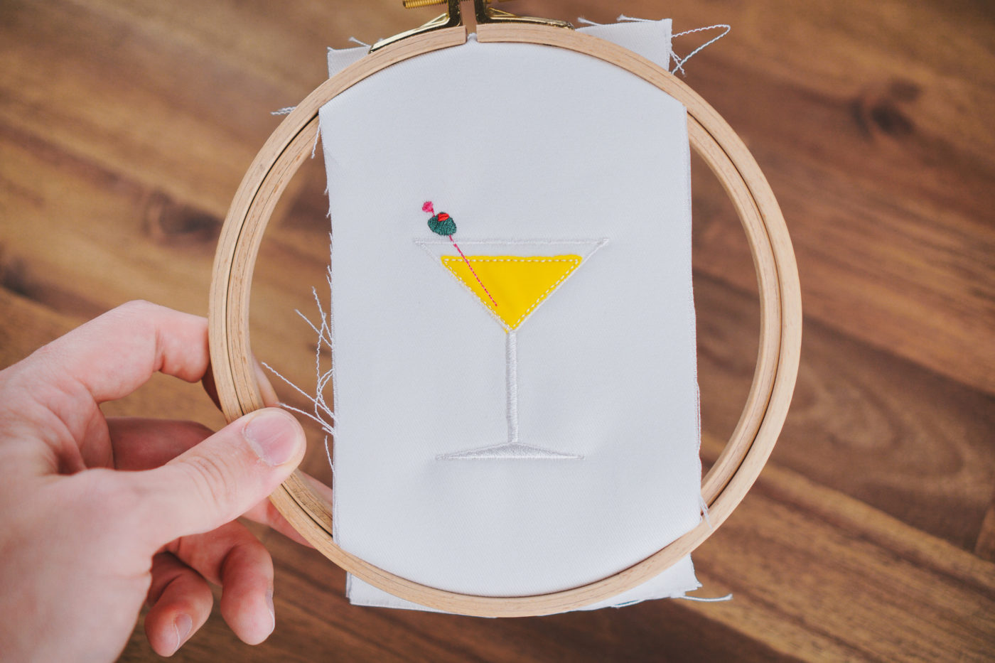 Stickdatei Cocktail Martini