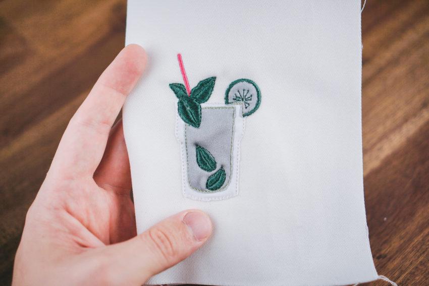 Stickdatei Cocktail Mojito