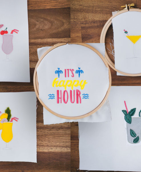 machine embroidery designs cocktail cocktail embroidery designs 5x HAPPY HOUR embroidery designs (bundle) stickdatei cocktail set 1 494x600