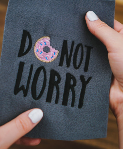 donut worry machine embroidery design