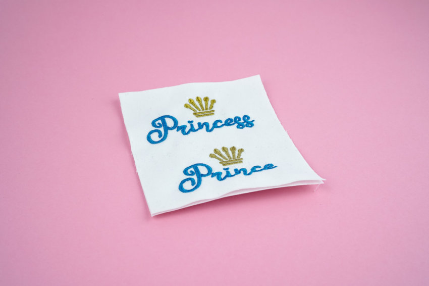 Stickdateien Set: Princess und Prince