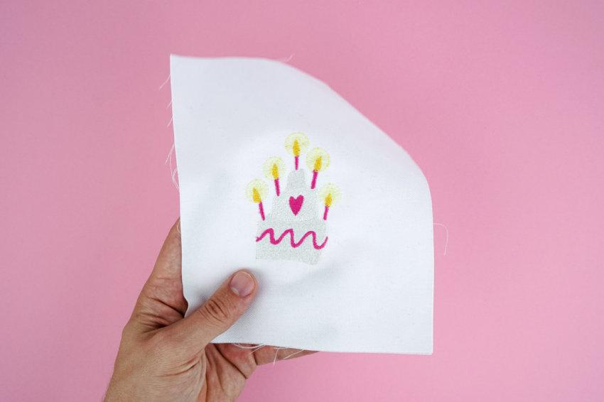 Stickdatei Torte / Geburtstagskuchen