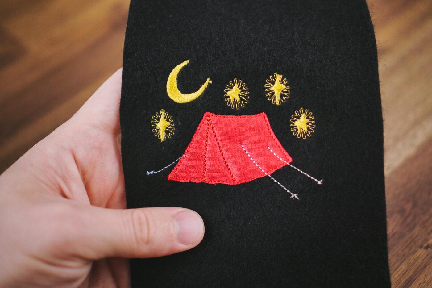 Stickdatei Zelt / Camping