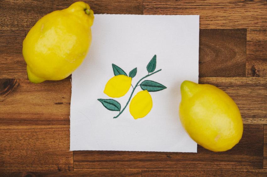 Stickdatei Zitronen / Limonen