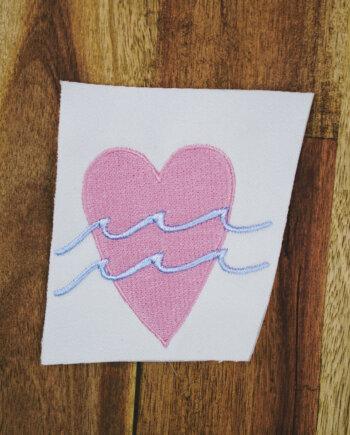 Stickdatei Herz / Liebe (Anwendungsbeispiel)