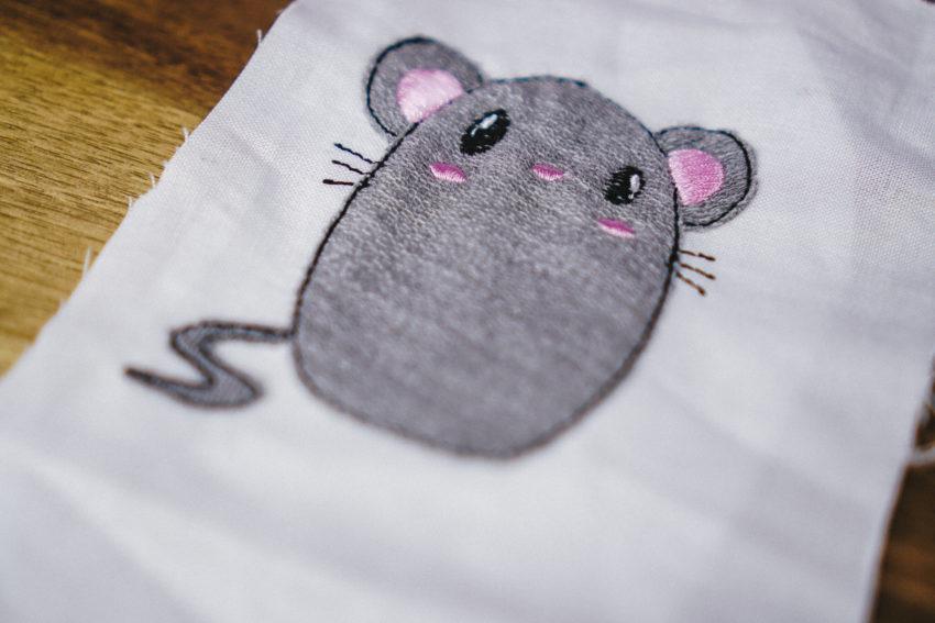 mouse applique pattern