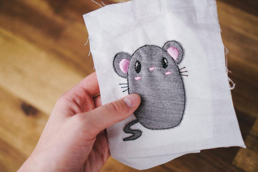 design mouse applique