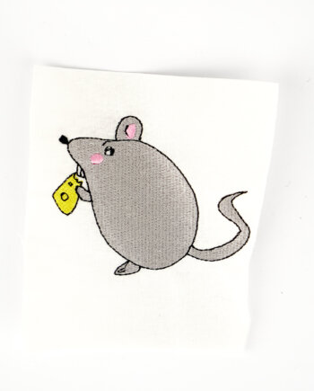 Stickdatei Maus mit Käse