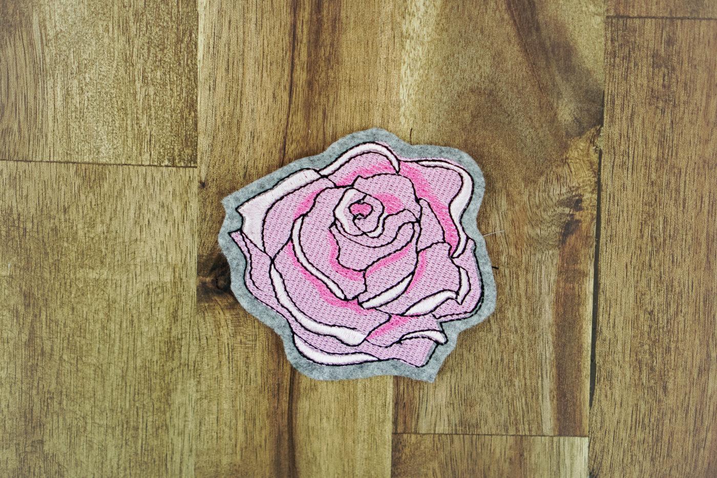Stickdatei Rose (Anwendungsbeispiel)