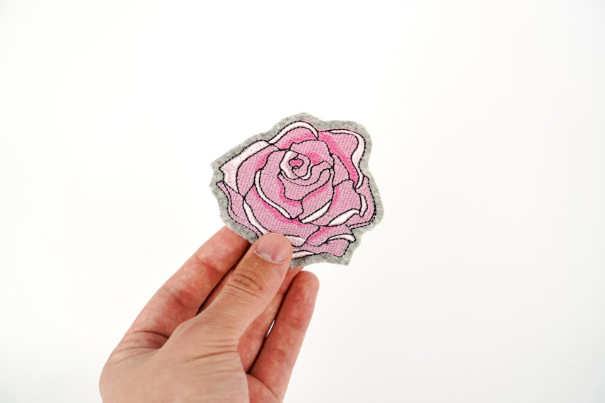 rose machine embroidery design