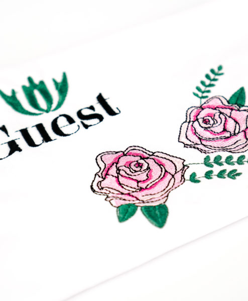 rose tendrils machine embroidery design