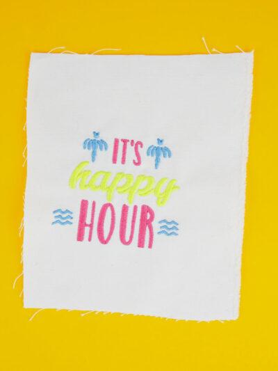 Stickdatei »IT'S HAPPY HOUR«