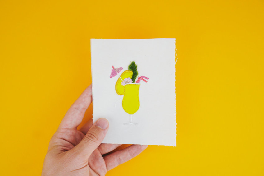 Stickdatei Cocktail »Mango«