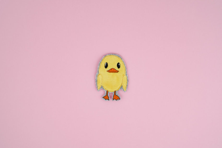 Machine embroidery design chick »Quack« #FLUFFIE & FANS
