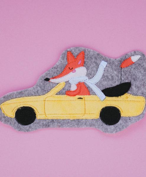 Stickdatei Fuchs im Manta Auto